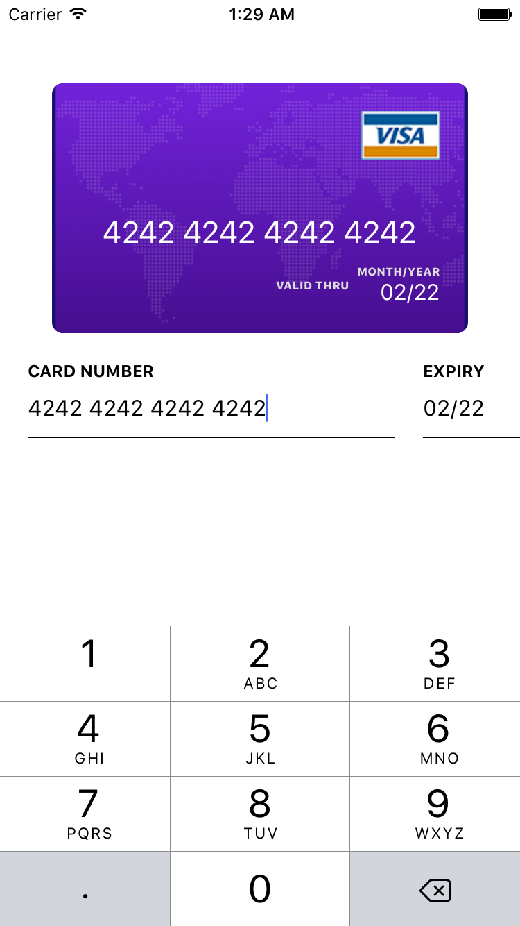 react-native-credit-card-input screenshot