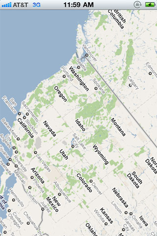 Rotatable MapView screenshot