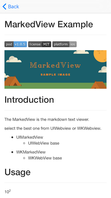 MarkedView screenshot