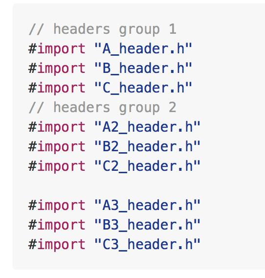 Xcode 8 headers (imports) sorting tool screenshot