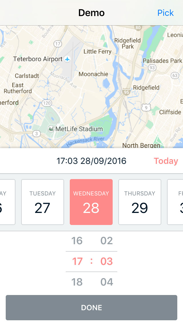 DateTimePicker screenshot