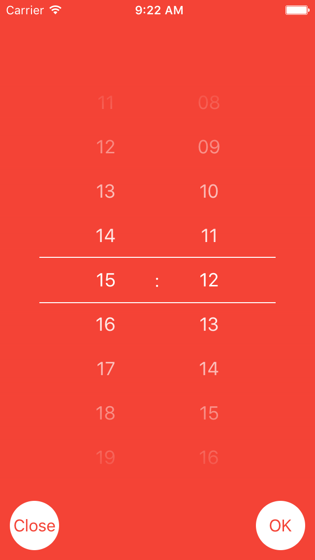 DPTimePicker screenshot