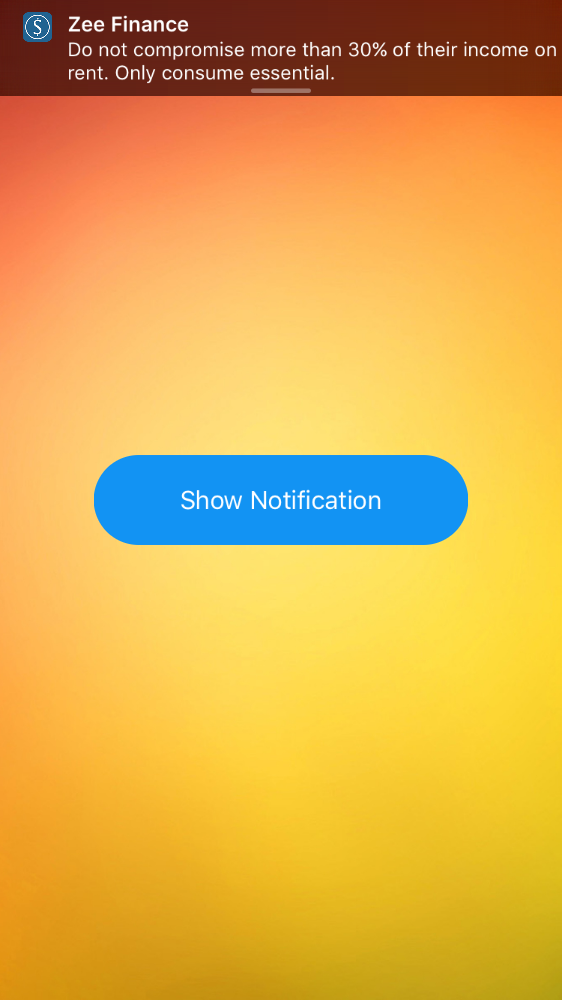 RNNotificationView screenshot