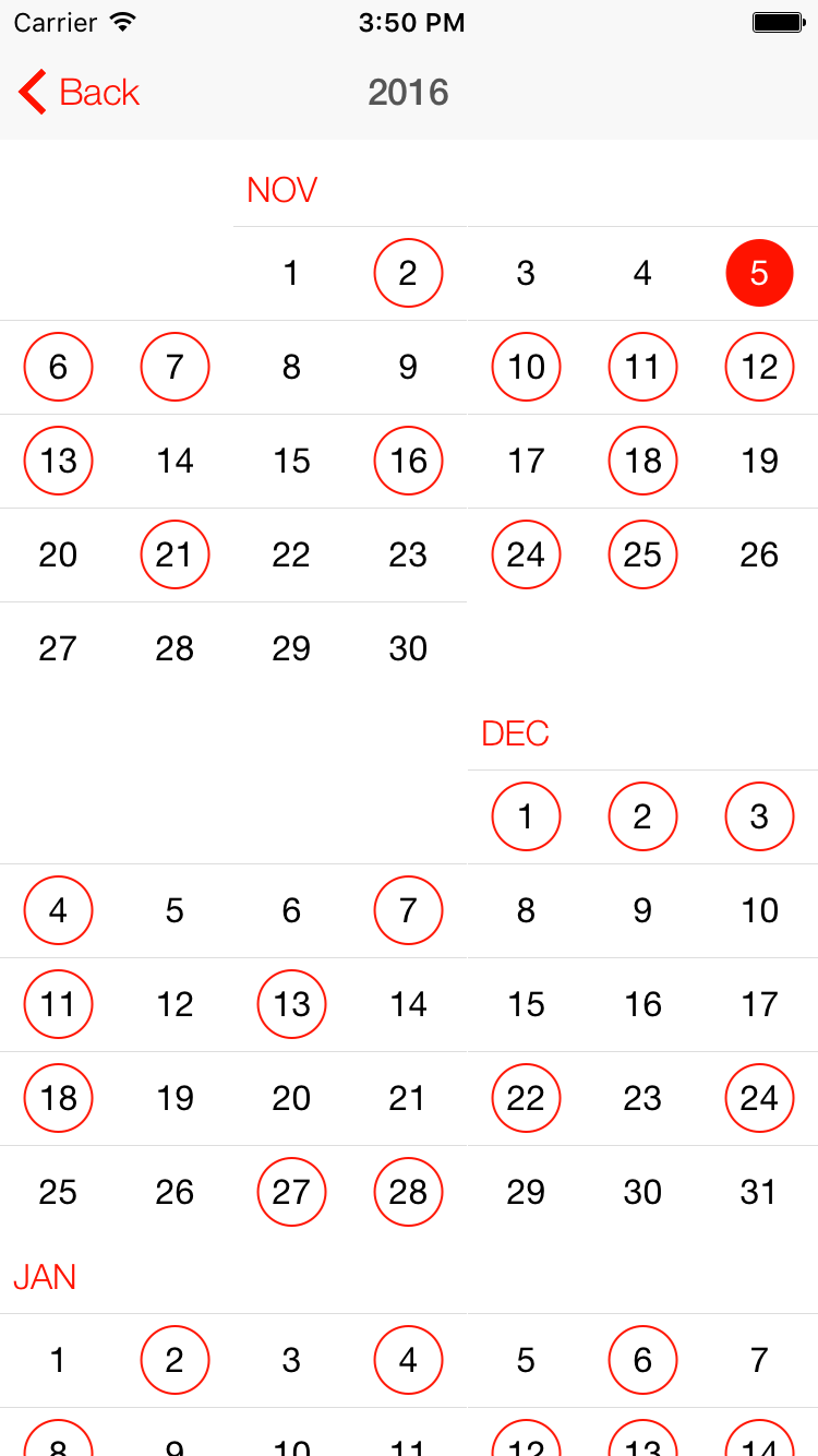 SSCalendar (Events Calendar) screenshot