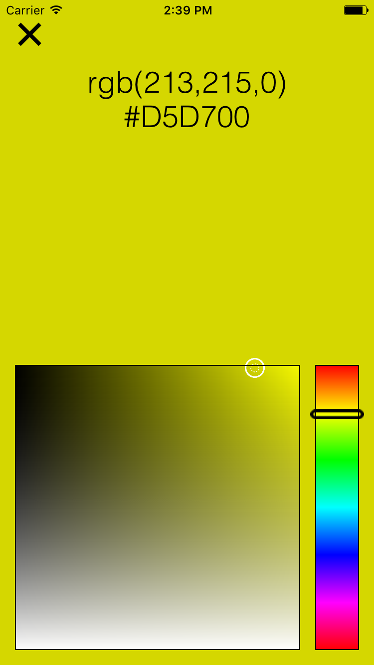 KPRColorPicker screenshot
