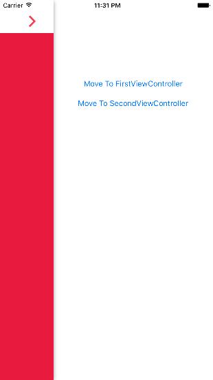 KVRootBaseSideMenu-Swift screenshot