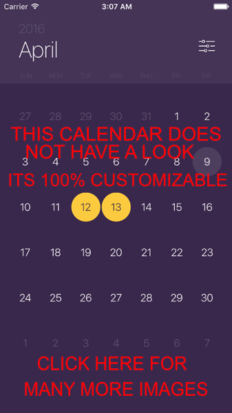 JTAppleCalendar screenshot
