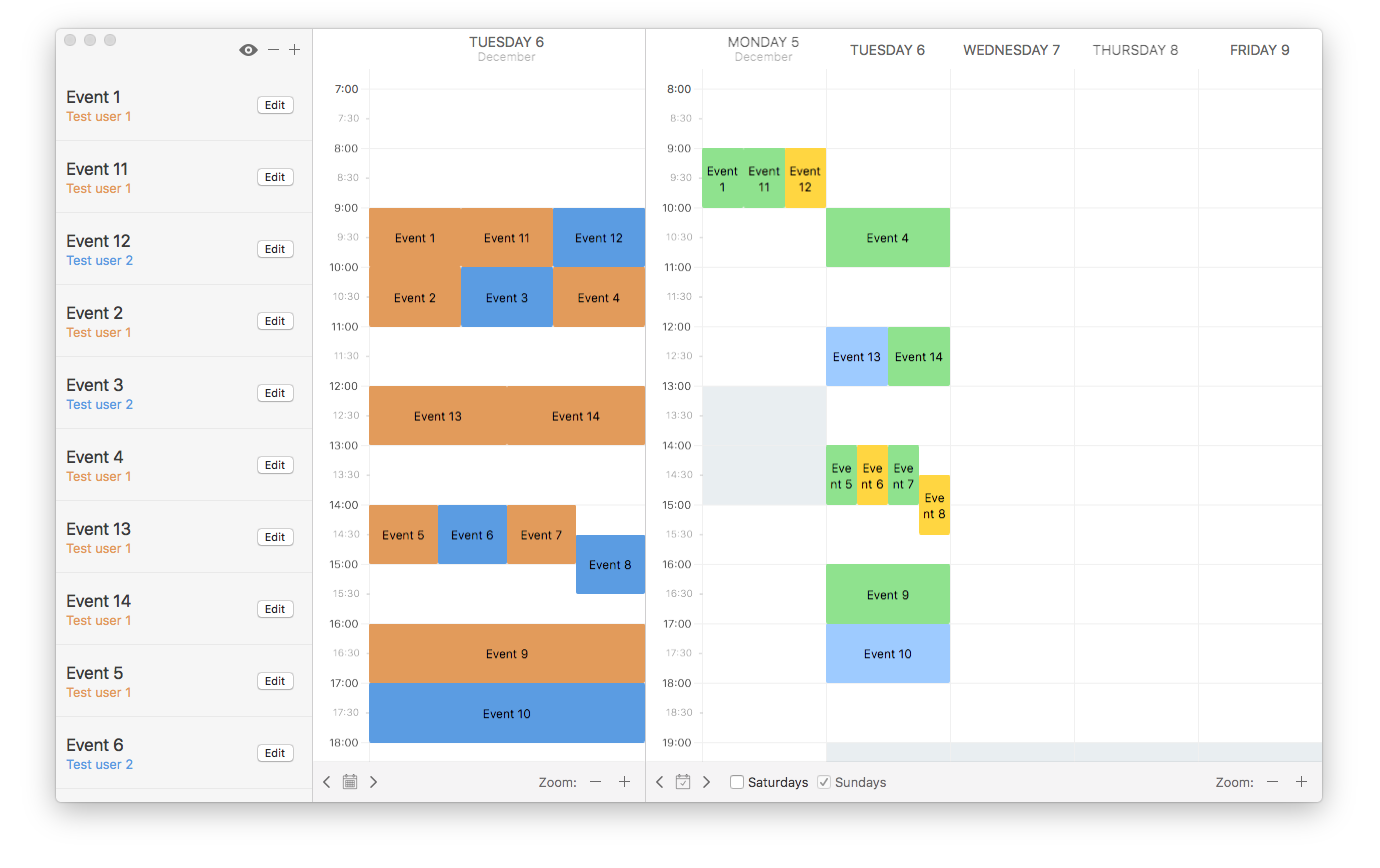 ScheduleKit screenshot