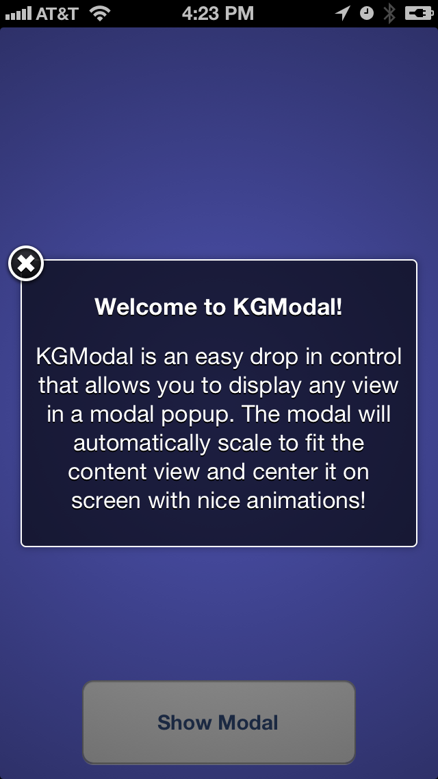 KGModal screenshot