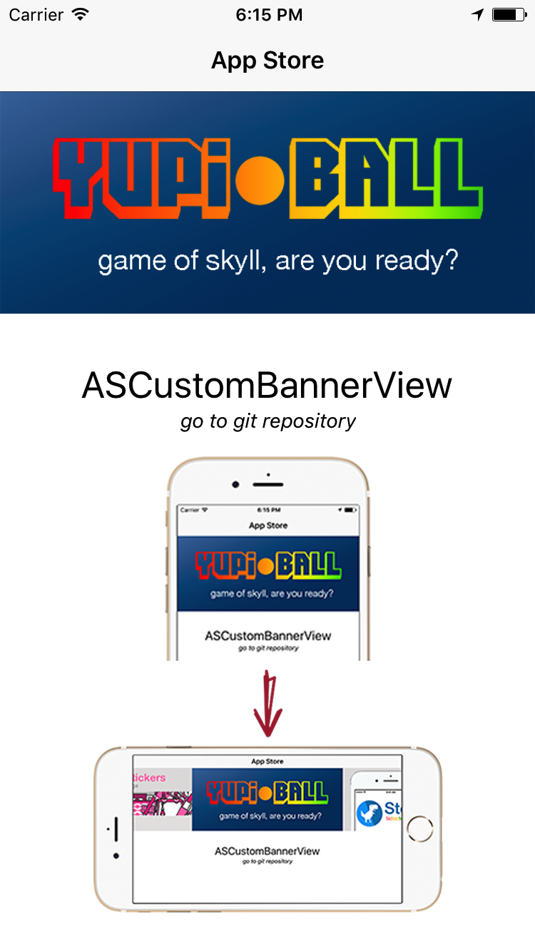 ASCustomBannerView screenshot