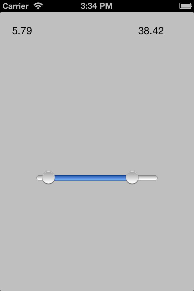 REDRangeSlider screenshot