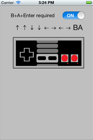 Konami Code Gesture Recognizer screenshot