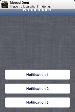 MPNotificationView screenshot