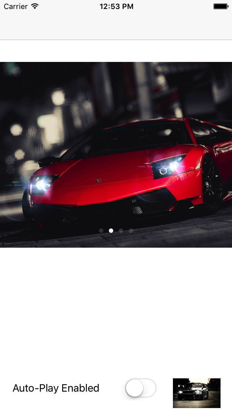 iOS Image Slider screenshot