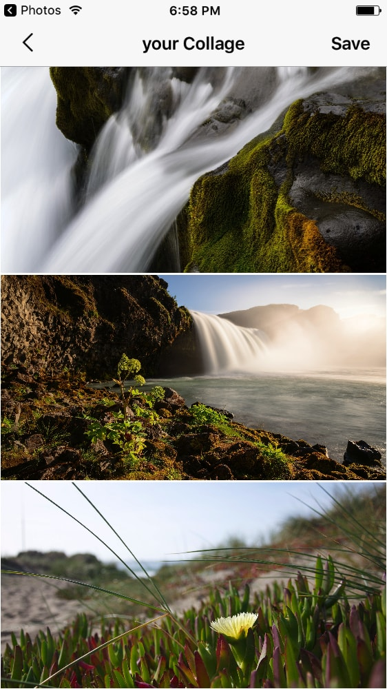 Collage screenshot