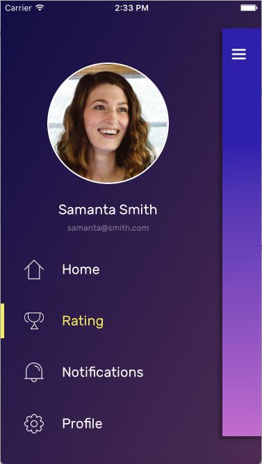 InteractiveSideMenu screenshot