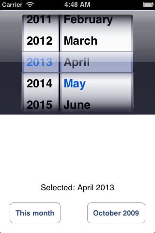 SRMonthPicker screenshot