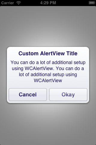 WCAlertView screenshot