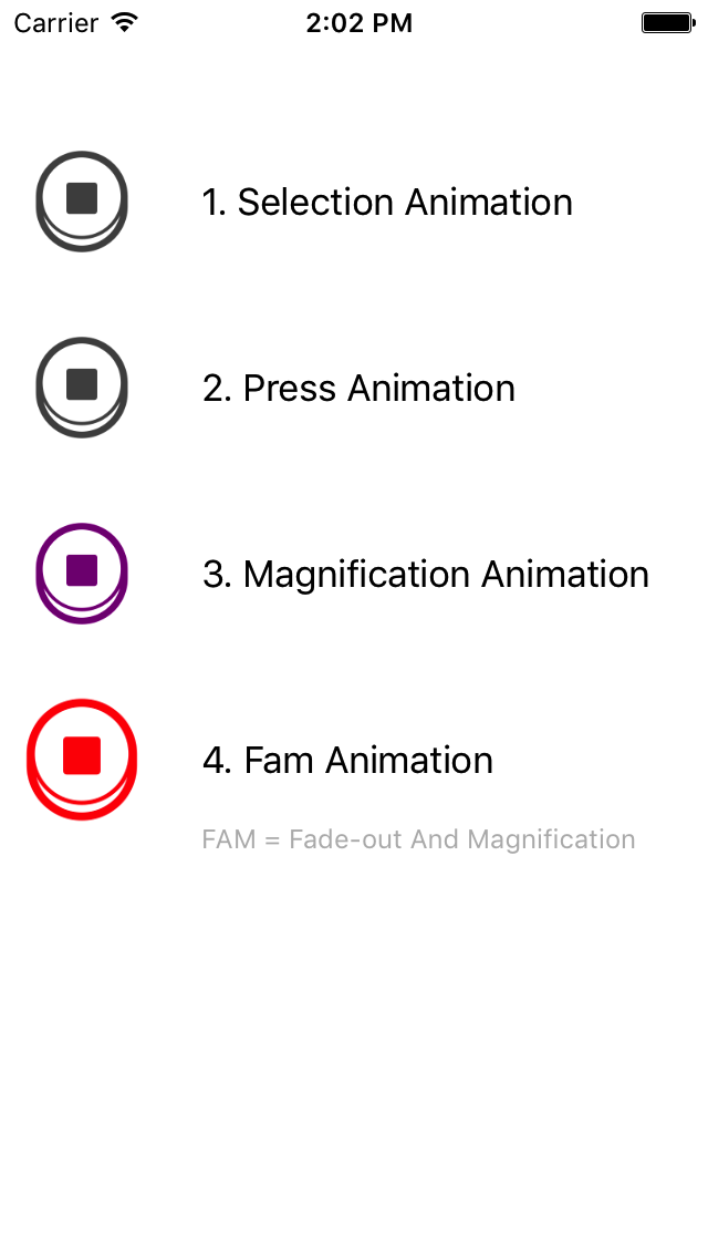 AnimatedButton screenshot
