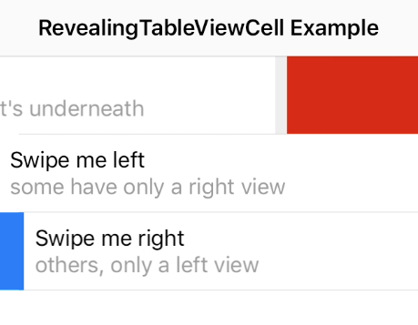 RevealingTableViewCell screenshot