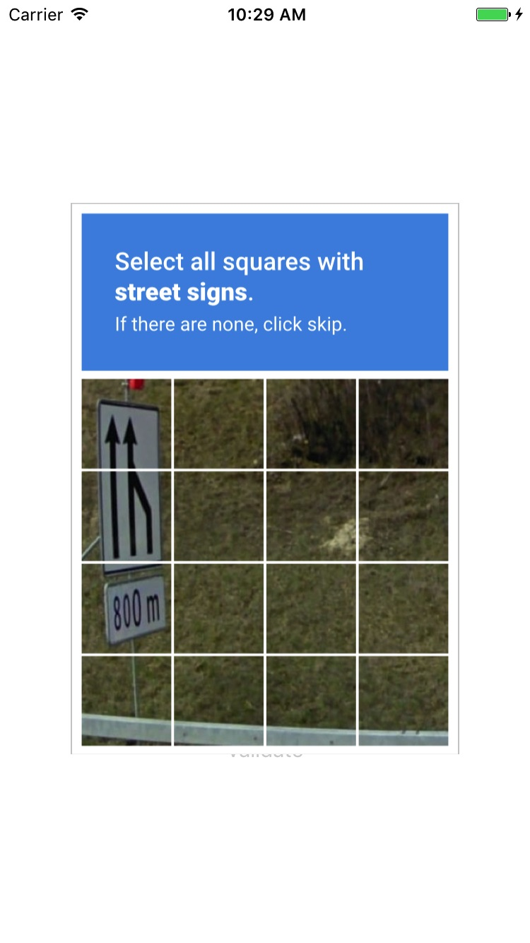 ReCaptcha screenshot