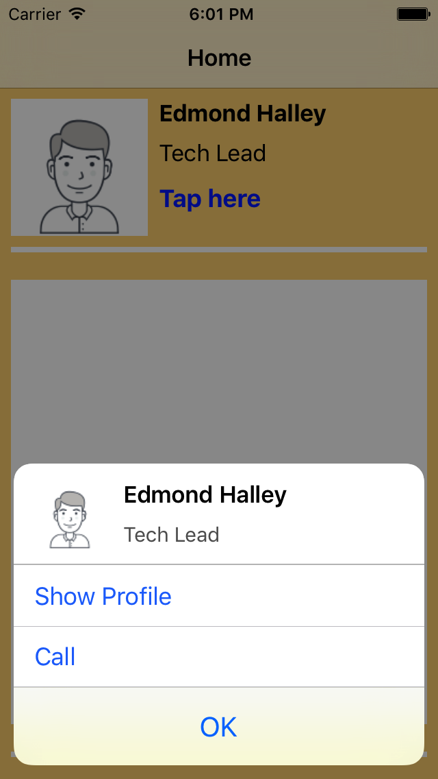 Custom Alert Controller screenshot