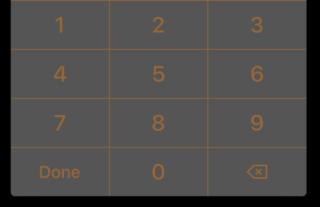 KBNumberPad screenshot