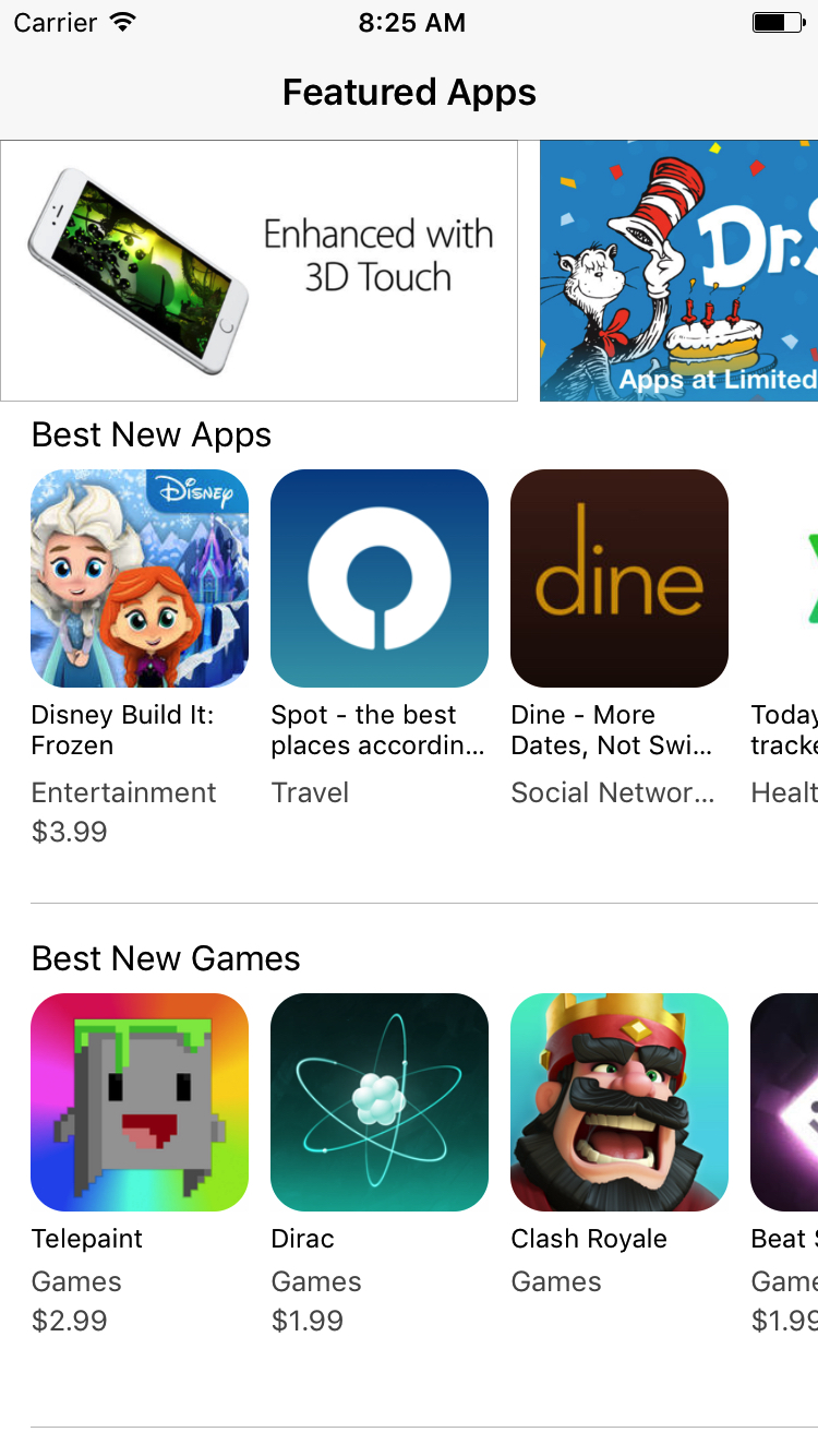 AppStoreClone screenshot