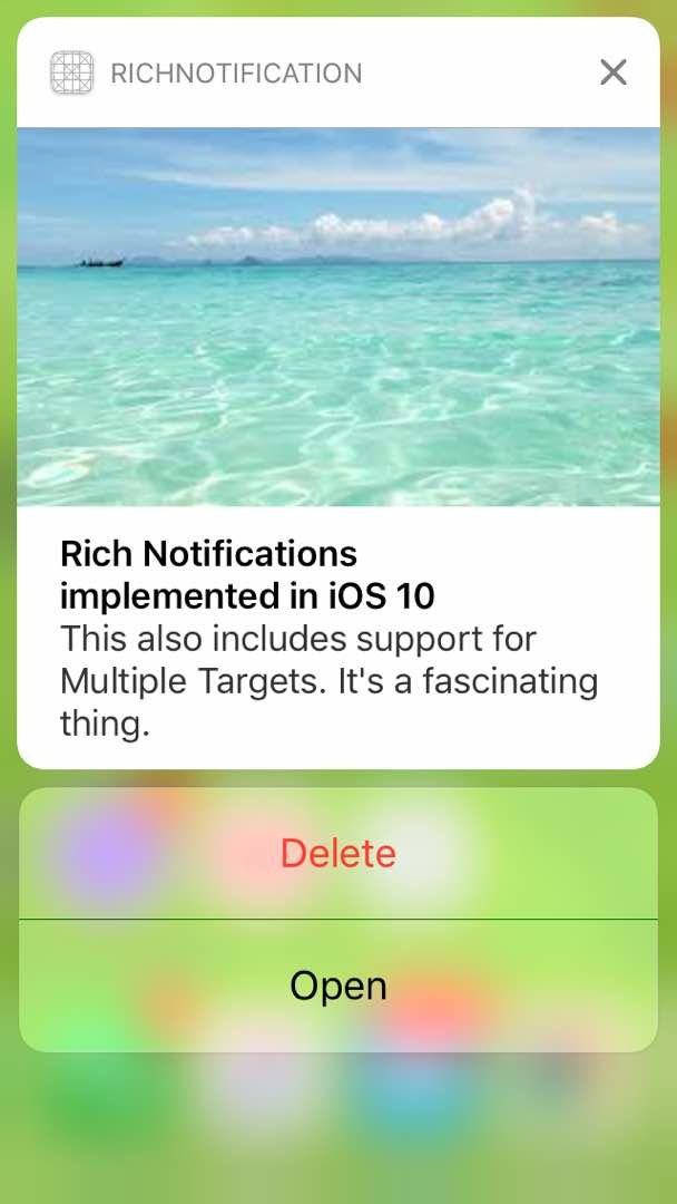 RichNotifications screenshot