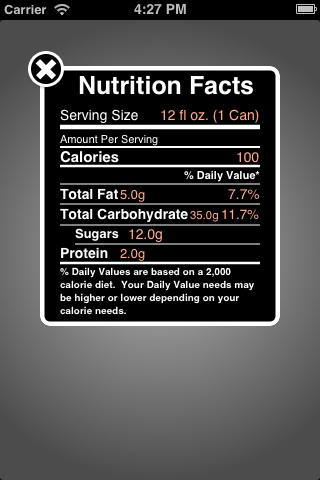 AJRNutritionController screenshot