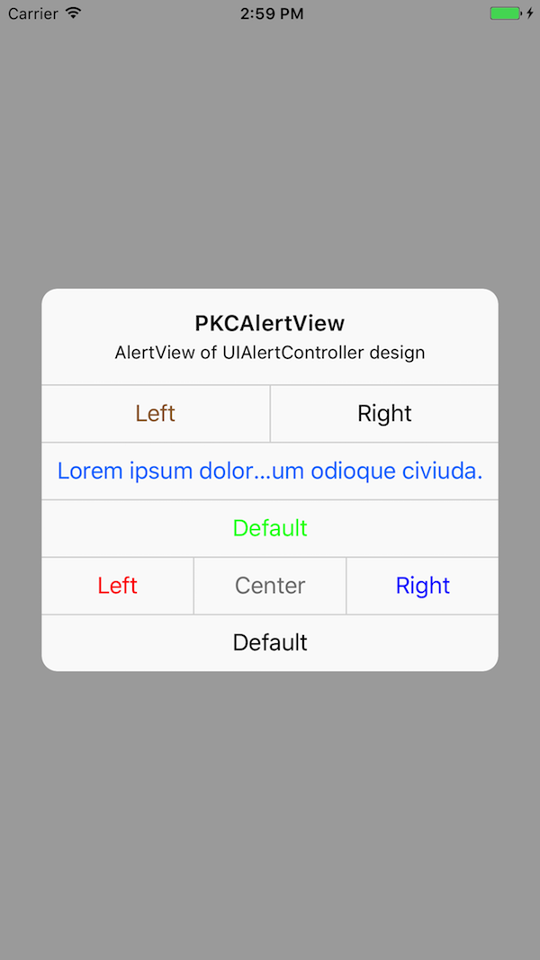 PKCAlertView screenshot