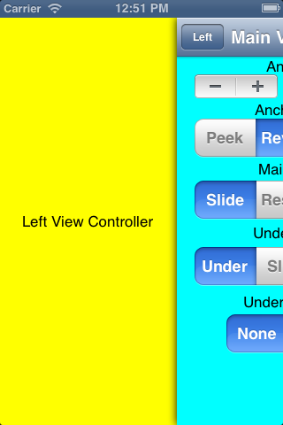 ADSlidingViewController screenshot