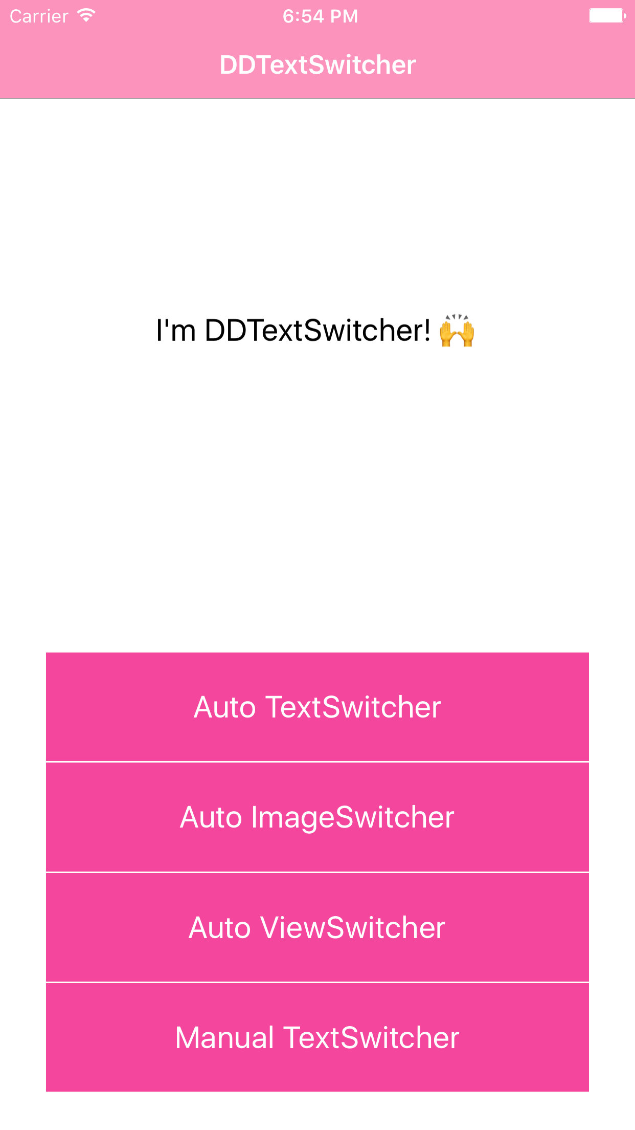 DDViewSwitcher screenshot