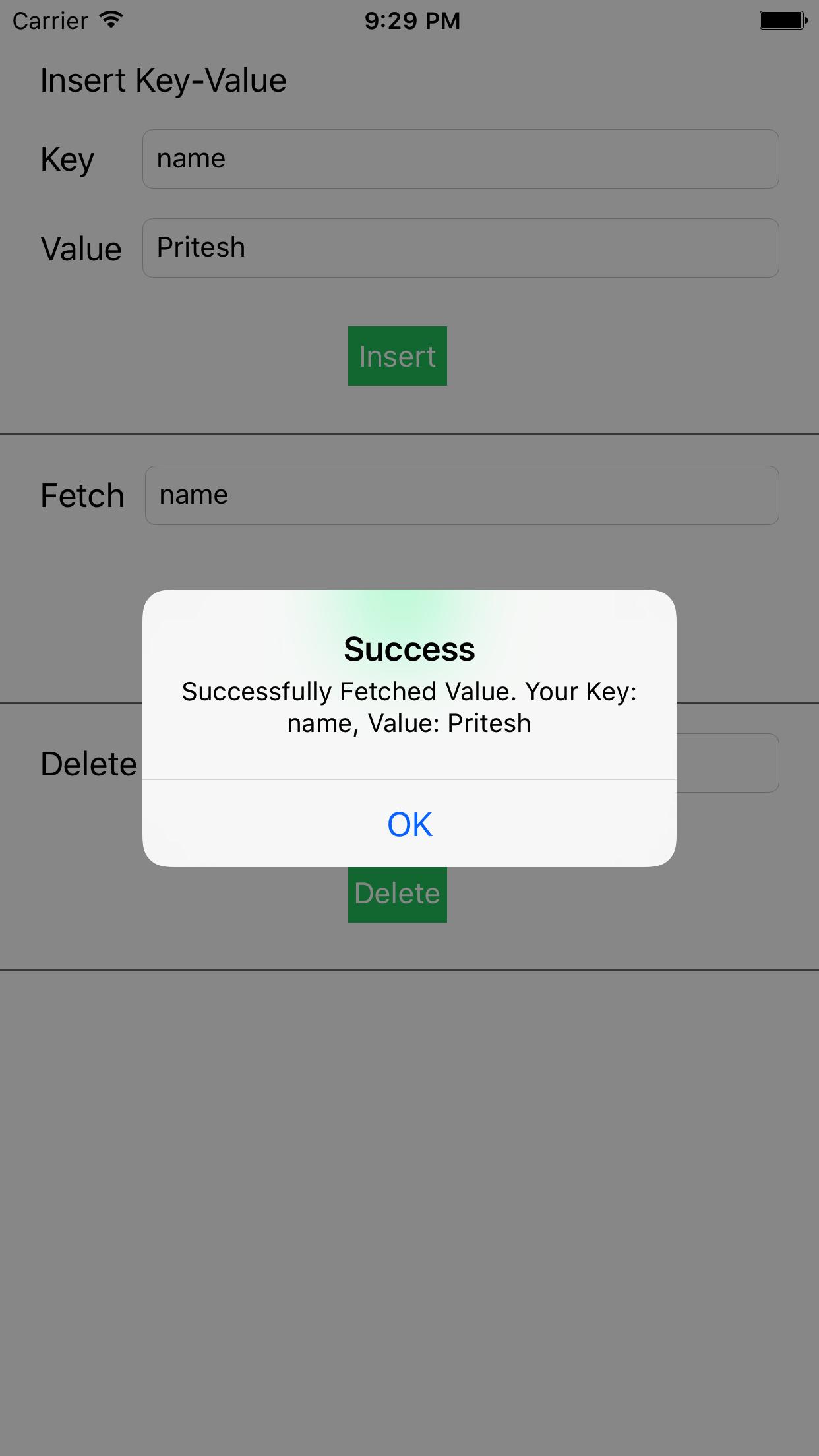 KVStore screenshot