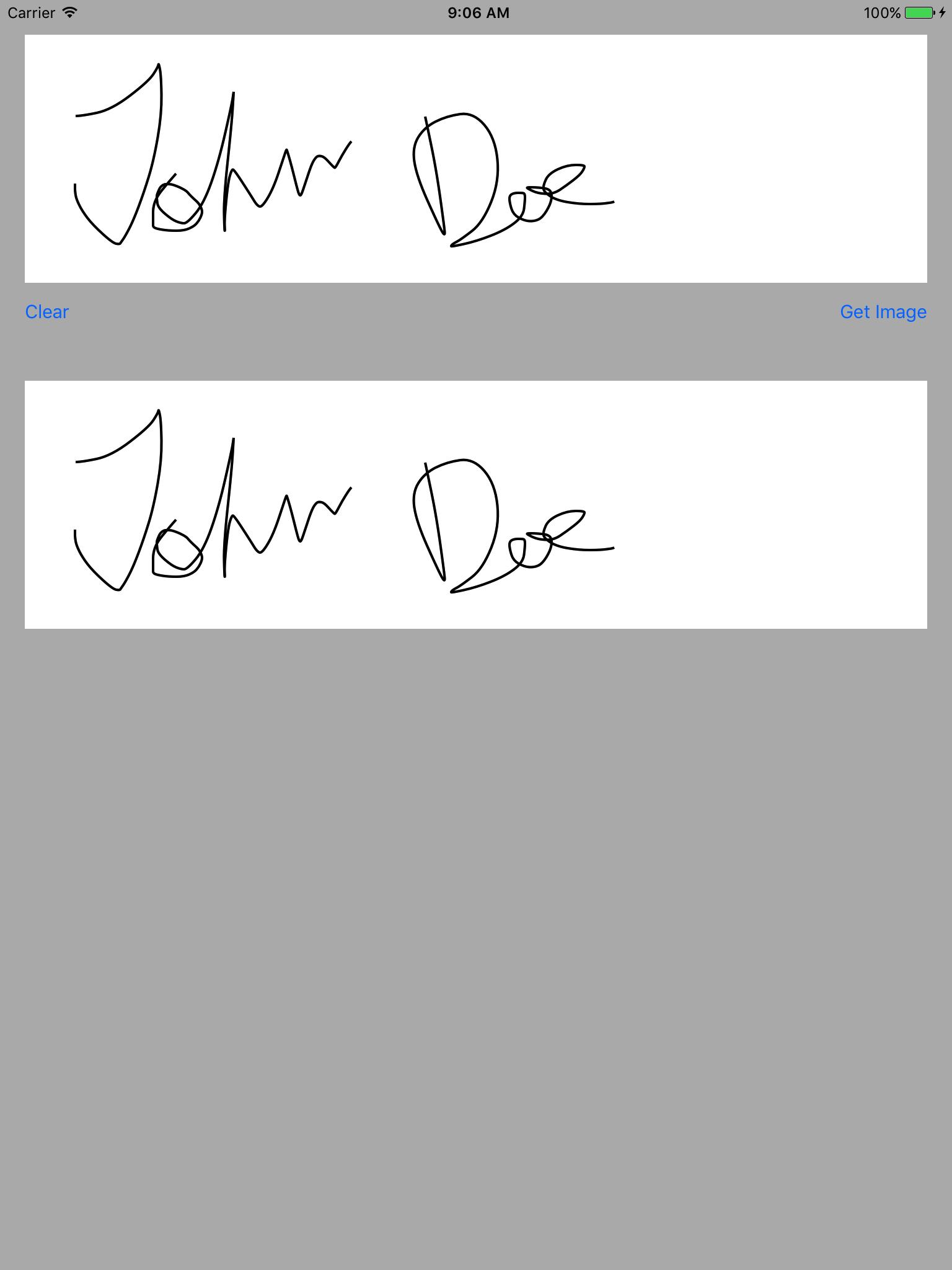 VMSignatureView screenshot