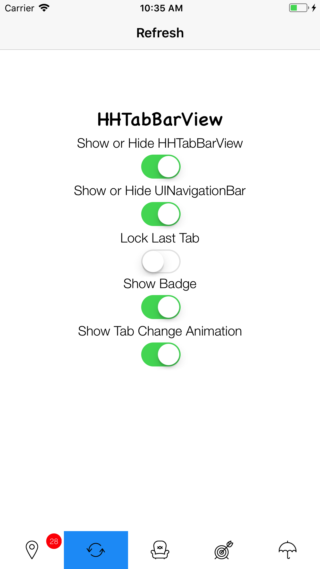 HHTabBarView screenshot