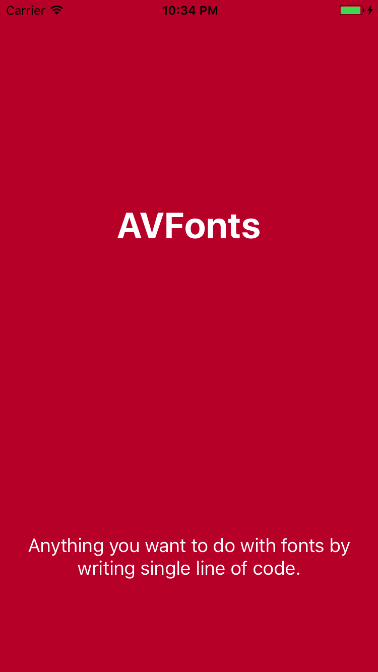 AVFonts screenshot
