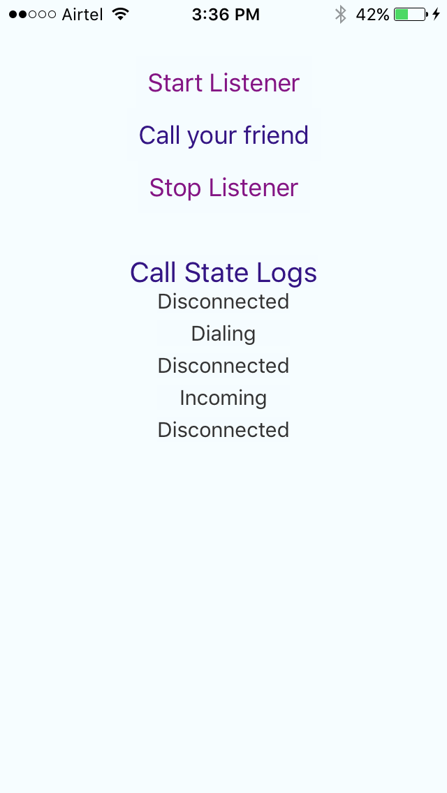 react-native-call-detection screenshot