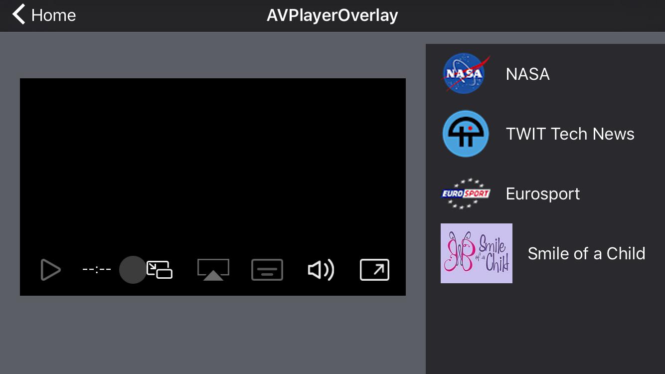 AVPlayerOverlay screenshot