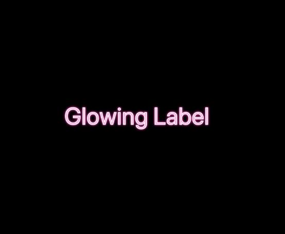 Glowing Label screenshot