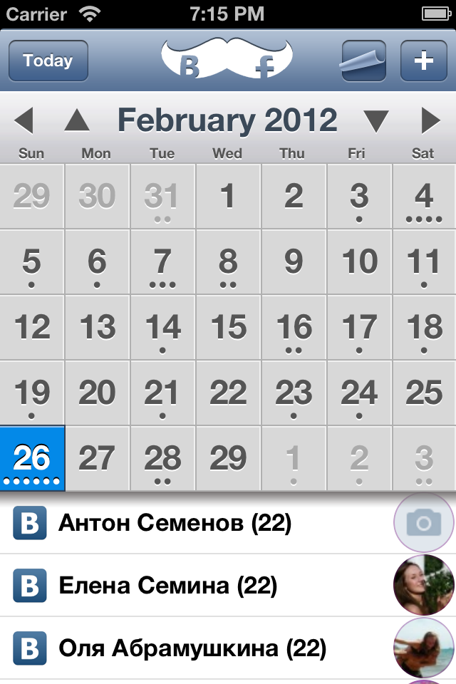 ABCalendarPicker screenshot
