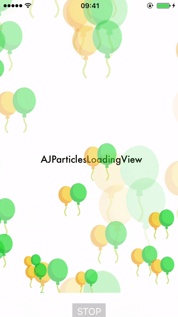 AJParticlesLoadingView screenshot