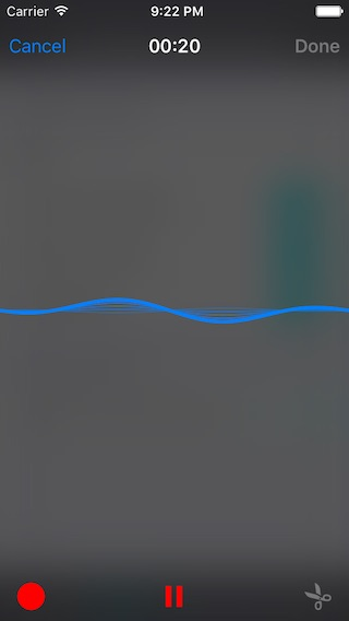 IQAudioRecorderController screenshot