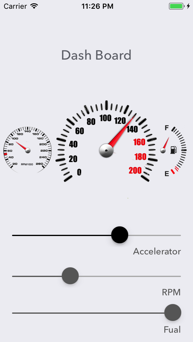 SPDashBoard-Gauge screenshot