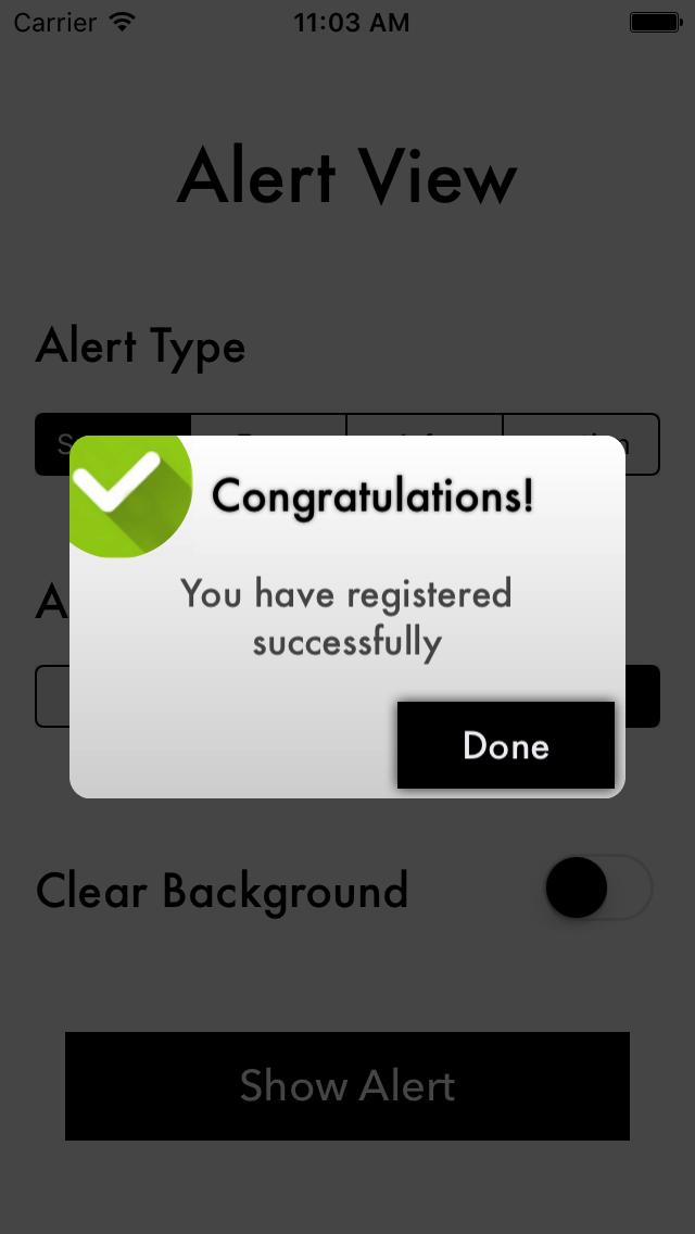 SPAlertView screenshot