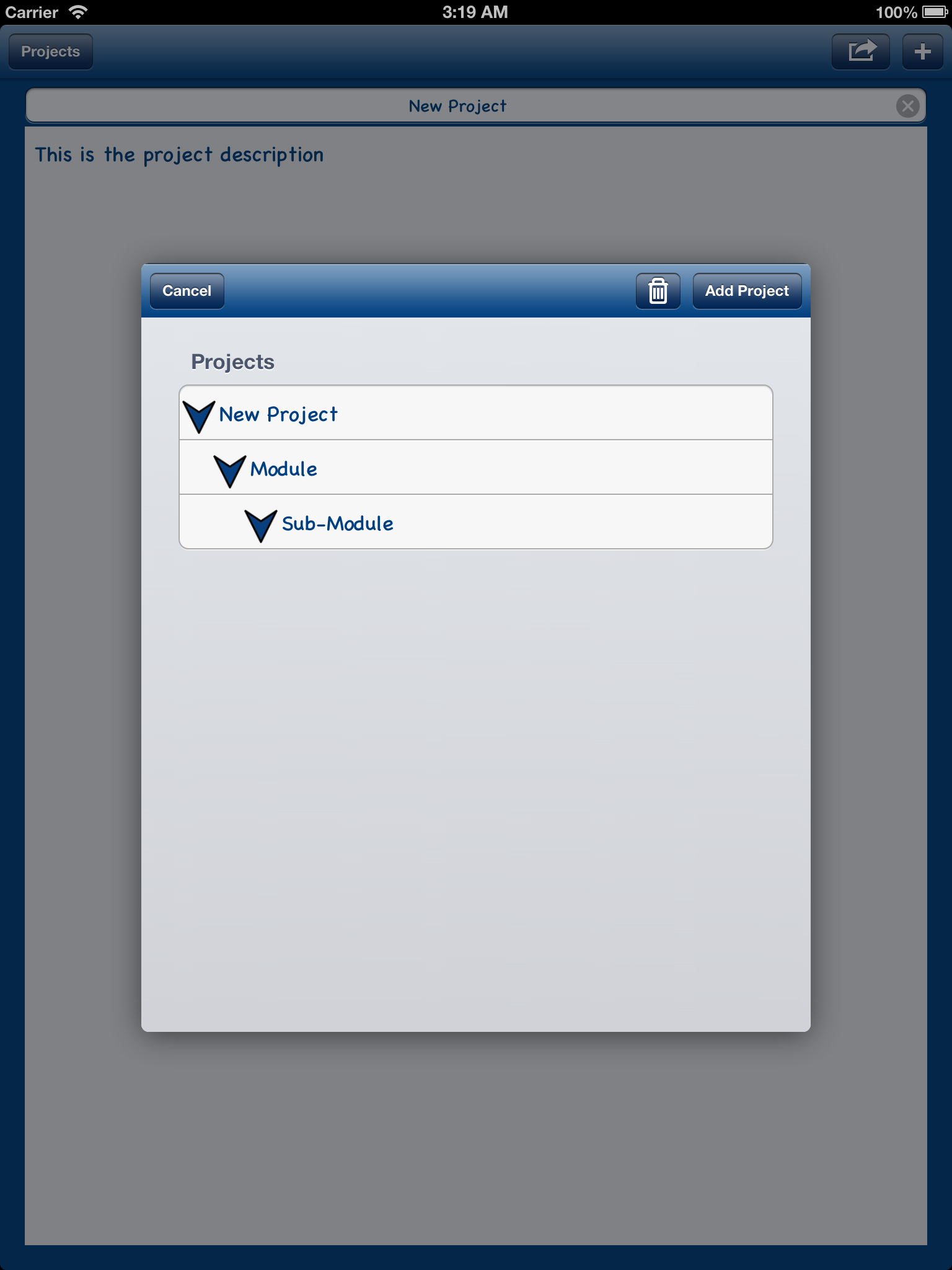 iOS-Tree-Component screenshot