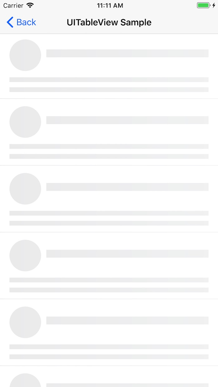 ListPlaceholder screenshot