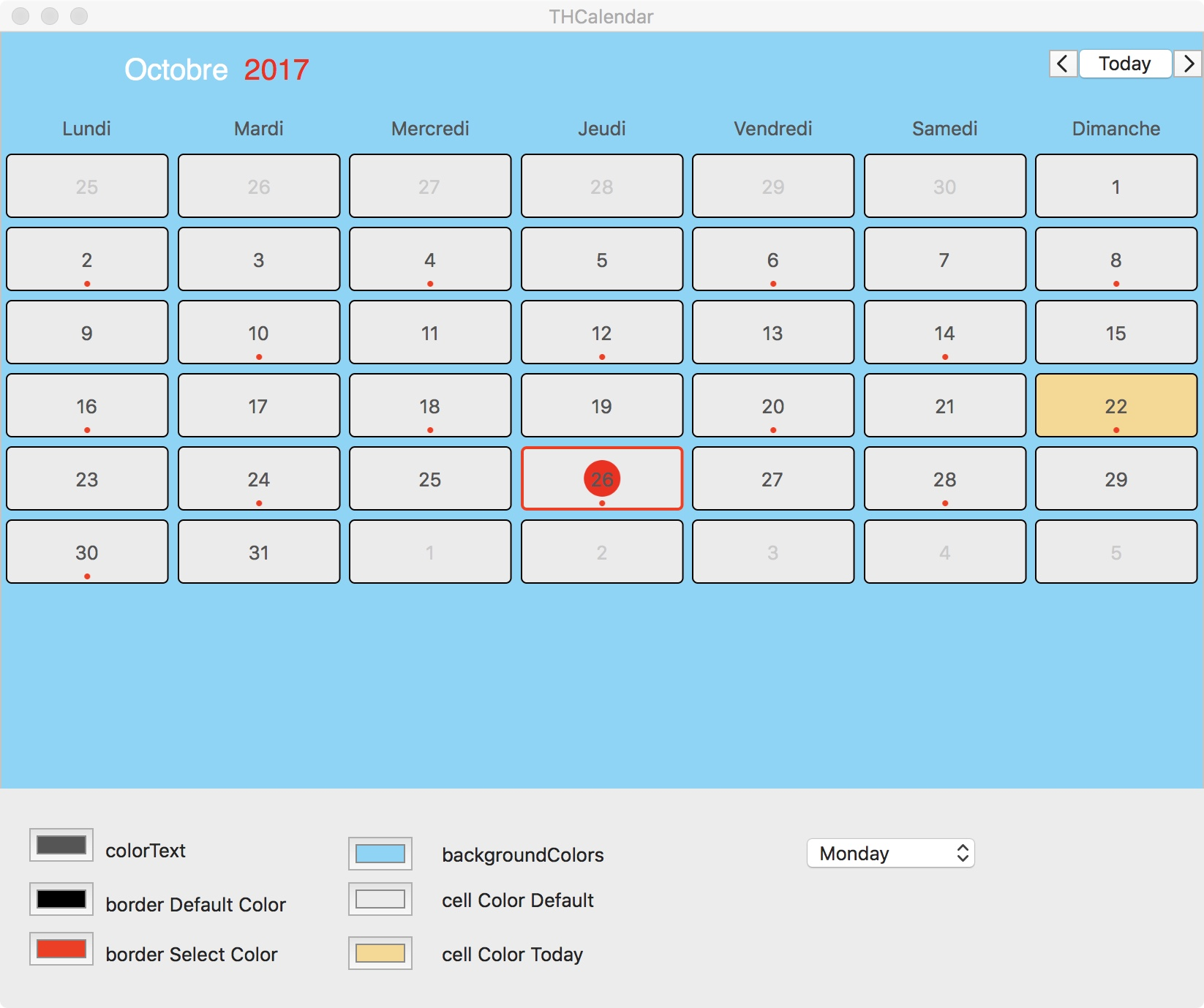 THCalendar screenshot