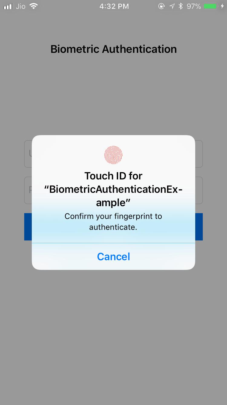 BiometricAuthentication screenshot