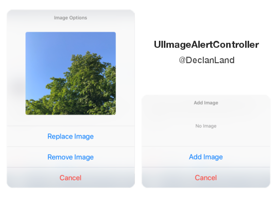 UIImageAlertController screenshot